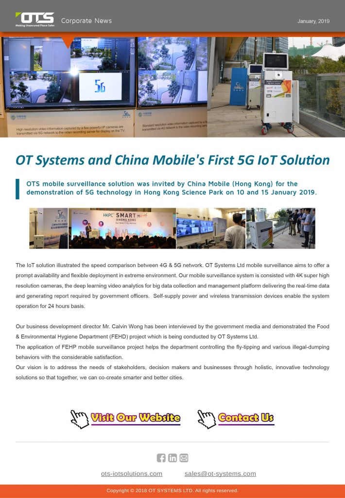 OT Systems and China Mobile's First 5G IoT Solution
